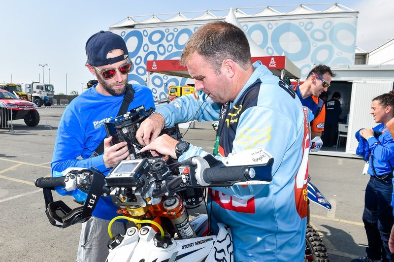 Gregory Stuart (zaf), KTM, Stuart Gregory, Original by Motul, Moto, Bike, portrait during the Dakar 2020's Administrative and Technical scrutineering in Jeddah, Saudi Arabia from January 2 to 4, 2020 - Photo DPPI
