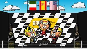 El podio del GP de Portugal 2006, por MiniBikers