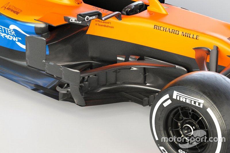 Боковой дефлектор McLaren MCL35