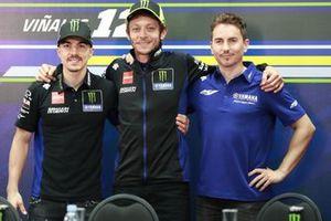 Maverick Vinales, Yamaha Factory Racing, Valentino Rossi, Yamaha Factory Racing, Jorge Lorenzo, Yamaha Factory Racing