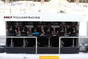 Williams op de pitmuur