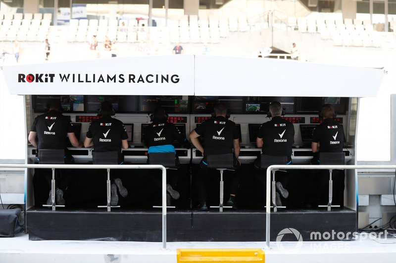 El muro de boxes del equipo Williams