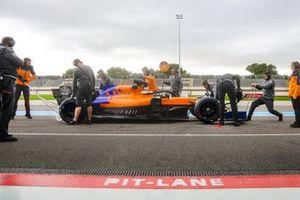 Карлос Сайнс, McLaren MCL34, тесты 18-дюймовых шин 2021 года