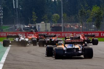 Charles Leclerc, Ferrari SF90, Lewis Hamilton, Mercedes AMG F1, Max Verstappen, Red Bull Racing RB15, Sebastian Vettel, Ferrari SF90, Alex Albon, Red Bull Racing RB15, Lando Norris, McLaren MCL34