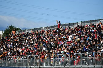 Fans fill out a grandstand