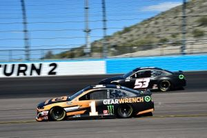 Kurt Busch, Chip Ganassi Racing, Chevrolet Camaro GEARWRENCH, Joey Gase, Rick Ware Racing, Ford Mustang