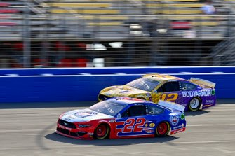 Joey Logano, Team Penske, Ford Mustang AAA Southern California and Ryan Blaney, Team Penske, Ford Mustang BodyArmor