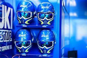 Suzuki pit lane helmets
