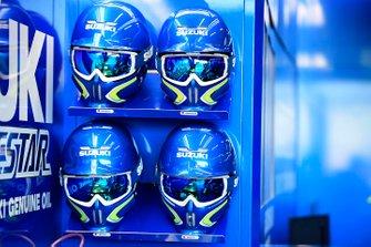 Caschi dei membri del team Suzuki