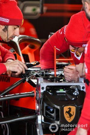 Ferrari mechanics at work