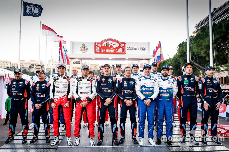 All drivers and co-drivers