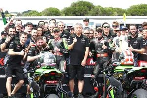 1. Alex Lowes, Kawasaki Racing Team, 2. Jonathan Rea, Kawasaki Racing Team