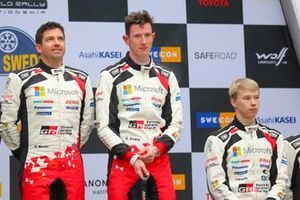 1. Elfyn Evans, Scott Martin, Toyota Gazoo Racing WRT, 3. Kalle Rovanperä, Toyota Gazoo Racing WRT
