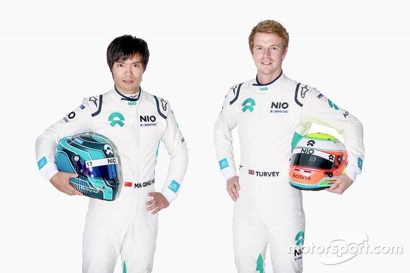 Oliver Turvey sigue en NIO y Ma Qing Hua llega a NIO tras disputar carreras en anteriores temporadas con otros equipos