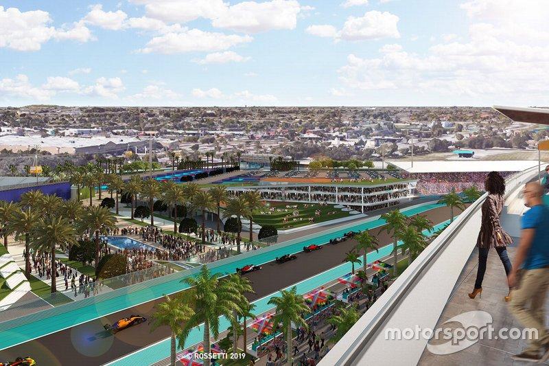 Image de synthèse du circuit F1 de Miami