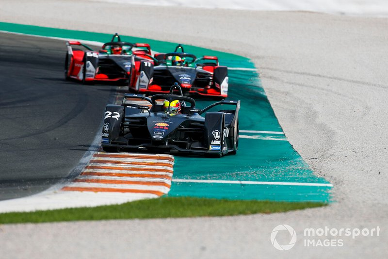 Oliver Rowland, Nissan e.Dams, Nissan IMO2 Lucas Di Grassi, Audi Sport ABT Schaeffler, Audi e-tron FE06, Daniel Abt, Audi Sport ABT Schaeffler, Audi e-tron FE06
