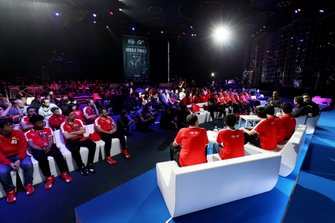 General view as Formula 1 Driver, Lewis Hamilton speaks on stage
