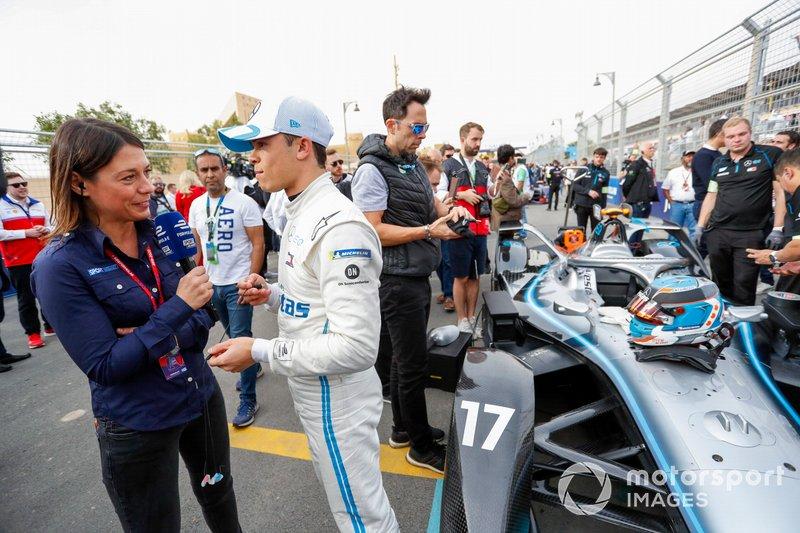 Nyck De Vries, Mercedes Benz EQ, EQ Silver Arrow 01, talks to the press