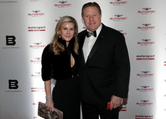 Tracy and Zak Brown, Executive Director, McLaren