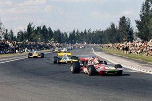 Chris Amon, March, Jack Brabham, Brabham, Denny Hulme, McLaren, al GP del Messico del 1970