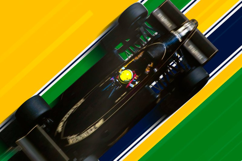 Poster di Ayrton Senna al fan festival di Sao Paulo