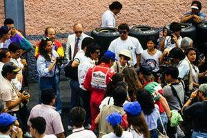 Ayrton Senna, McLaren with fans