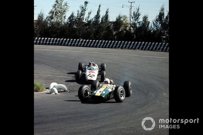 Moises Solana, Lotus, Ronnie Bucknum, Honda, al GP del Messico del 1965