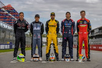 James Courtney, Tekno Autosports Holden, Scott Pye, Team 18 Holden, Chaz Mostert, Walkinshaw Andretti United Holden, Todd Hazelwood, Brad Jones Racing Holden, Jack Le Brocq, Tickford Racing Ford