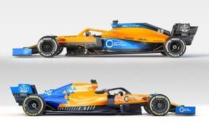 Comparison McLaren MCL34/MCL35
