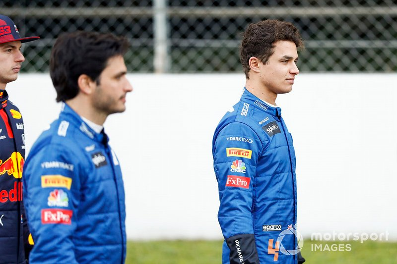 Lando Norris, McLaren and Carlos Sainz, McLaren