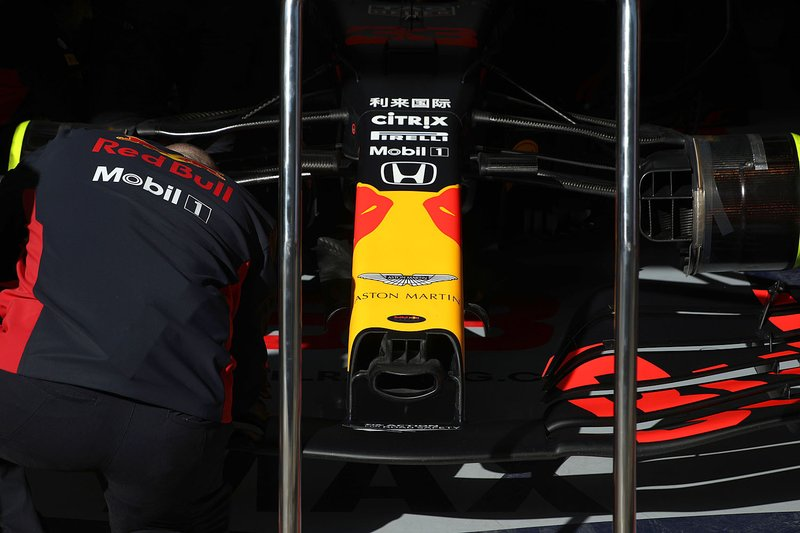 Red bull Racing RB16 front nose detail