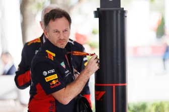Christian Horner, Team Principal, Red Bull Racing, arriva nel paddock