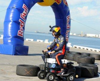 Alex Albon, Red Bull Racing lors d'un événement Red Bull à St Kilda