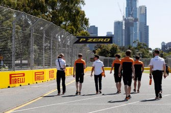Mclaren on their track walk