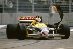 Reifenschaden: Nigel Mansell, Williams FW11