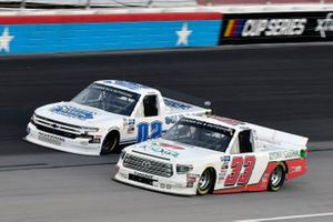 Akinori Ogata, Reaume Brothers Racing, Toyota Tundra and Tate Fogleman, Young's Motorsports, Chevrolet Silverado Solid Rock Carriers