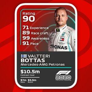 Cartas del F1 2020: Valtteri Bottas