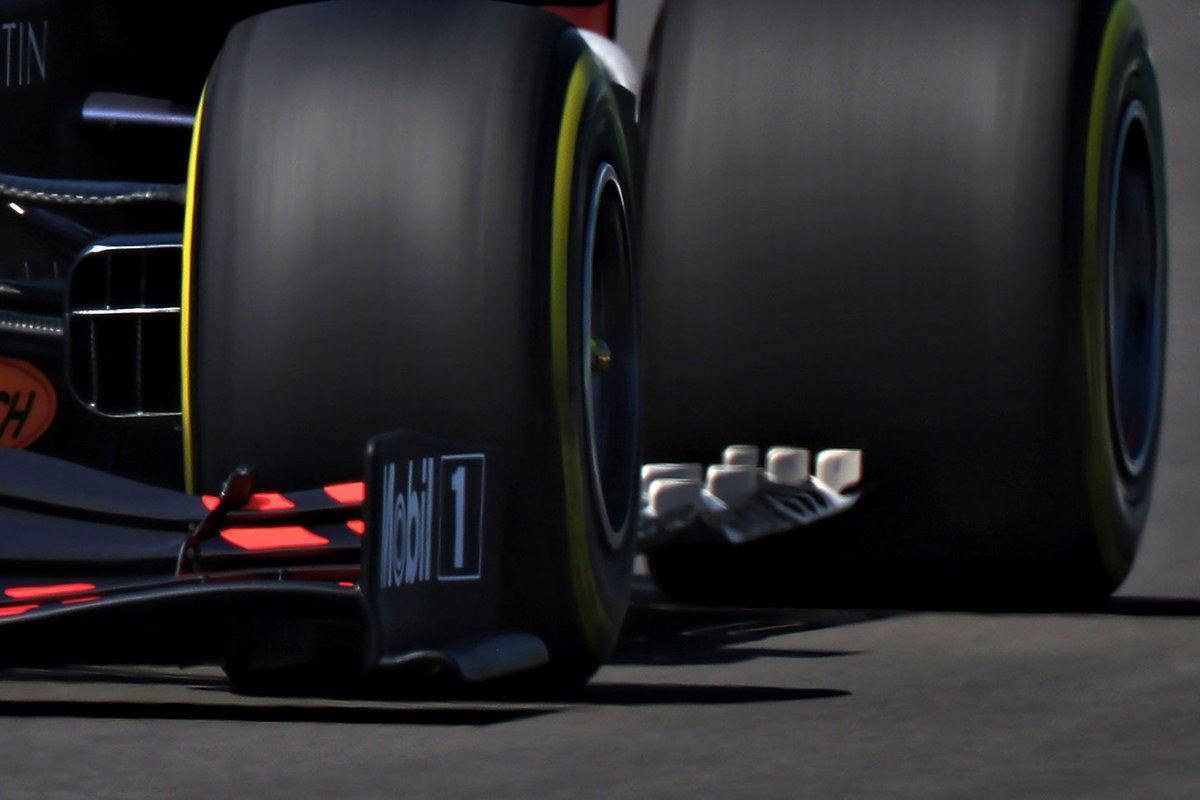 Dettagli del fondo della, Red Bull Racing RB16