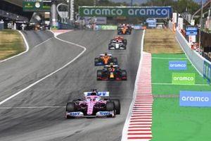 Sergio Perez, Racing Point RP20, Alex Albon, Red Bull Racing RB16, Carlos Sainz Jr., McLaren MCL35