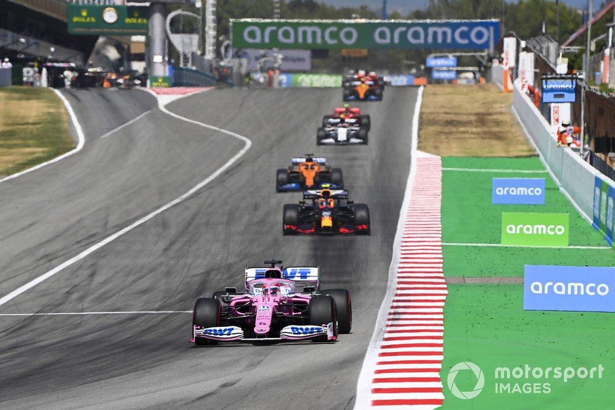 Sergio Pérez, Racing Point RP20, Alex Albon, Red Bull Racing RB16, Carlos Sainz Jr., McLaren MCL35