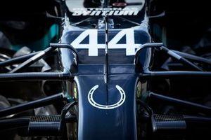 El W11 de Lewis Hamilton, Mercedes F1 , con la herradura homenaje a Stirling Moss