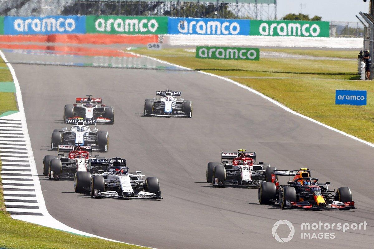 Alex Albon, Red Bull Racing RB16, Daniil Kvyat, AlphaTauri AT01, Antonio Giovinazzi, Alfa Romeo Racing C39