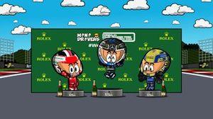 El podio del GP de Austria 2020 de F1, por MiniDrivers