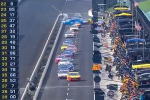 Front view of pit road incident