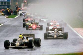 Ayrton Senna, Lotus 97T Renault, Elio de Angelis, Lotus 97T Renault, Alain Prost, McLaren MP4/2B TAG Porsche, Michele Alboreto, Ferrari F156/85
