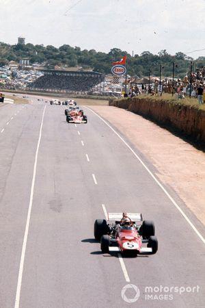 Clay Regazzoni, Ferrari 312B, Emerson Fittipaldi, Lotus 72C, Denny Hulme, McLaren M19A Ford