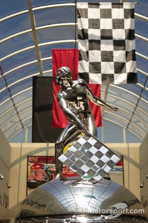 Borg-Warner Trophy with face mask