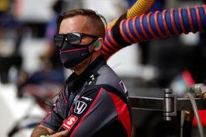 Alex Palou, Dale Coyne Racing with Team Goh Honda, crew