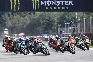 Start zum GP Tschechien 2020 in Brünn: Fabio Quartararo, Petronas Yamaha SRT, führt