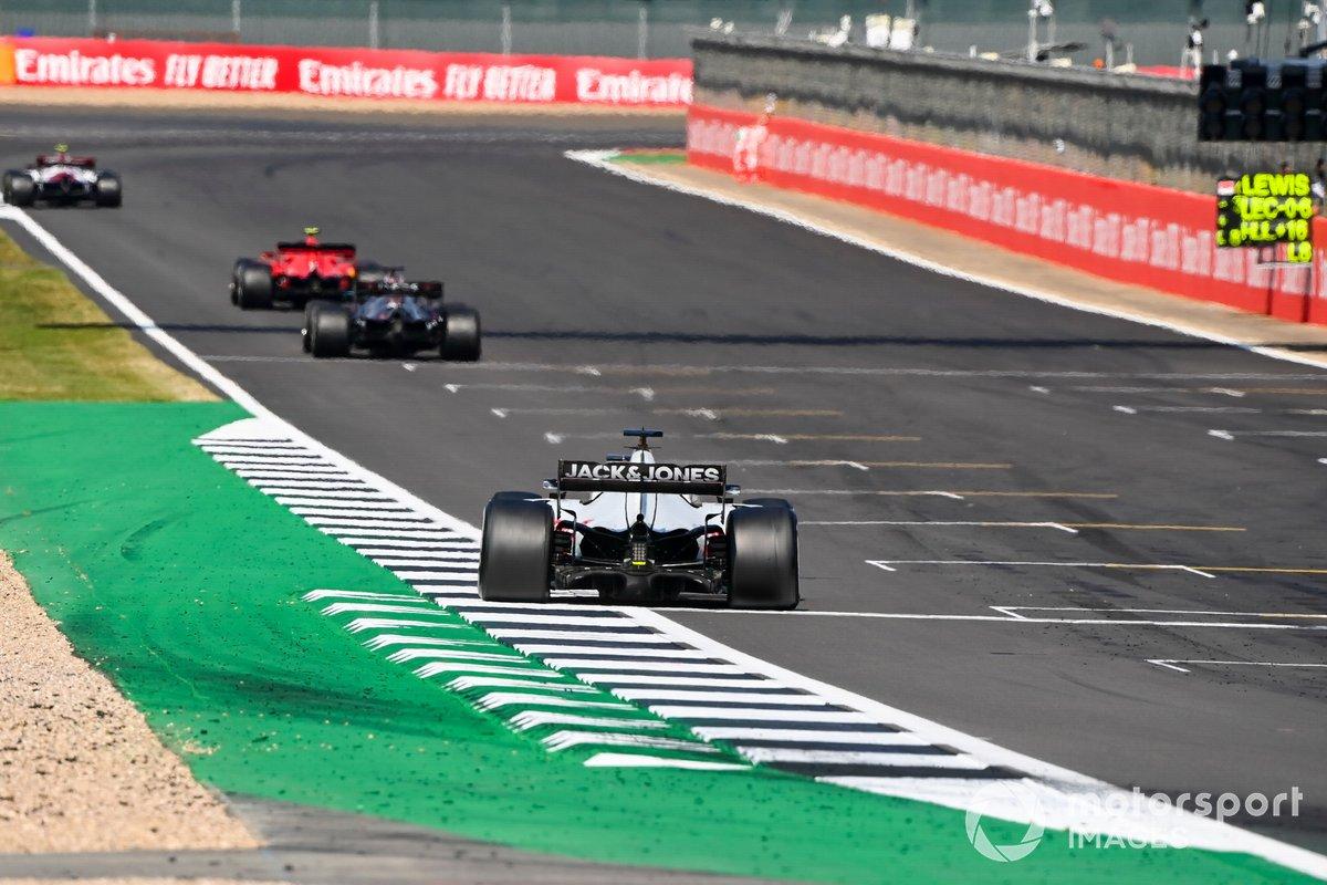 Charles Leclerc, Ferrari SF1000, Lewis Hamilton, Mercedes F1 W11, Romain Grosjean, Haas VF-20
